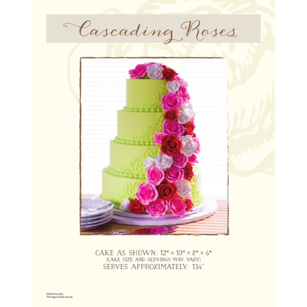 Cascading Roses Wedding The Magic of Cakes® Page