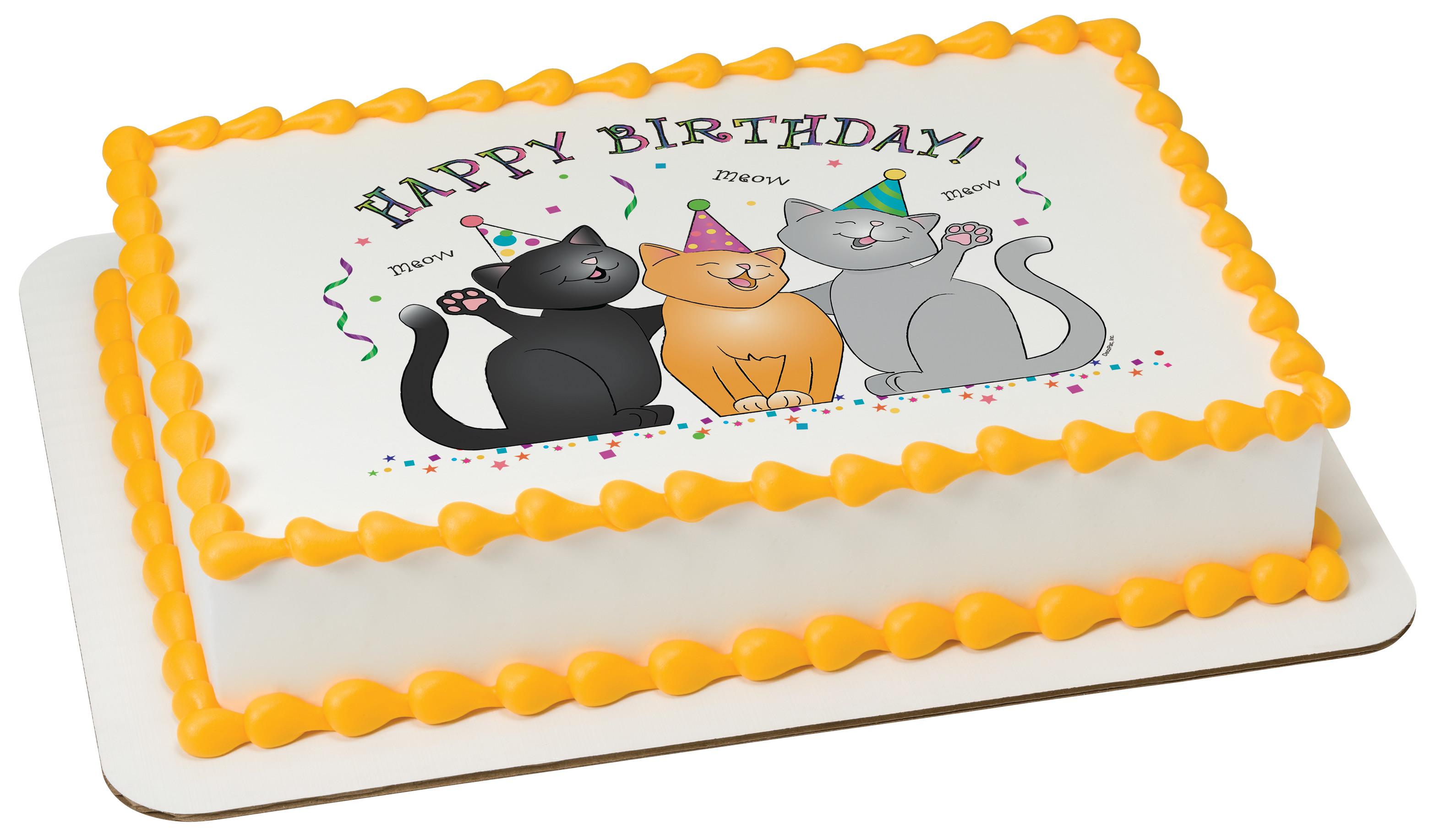 Birthday Cats Photocake 174 Edible Image 174 Decopac