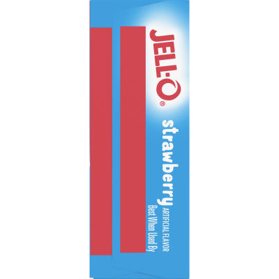 Jell-O Strawberry Sugar-Free Gelatin, 0.3 oz Bag