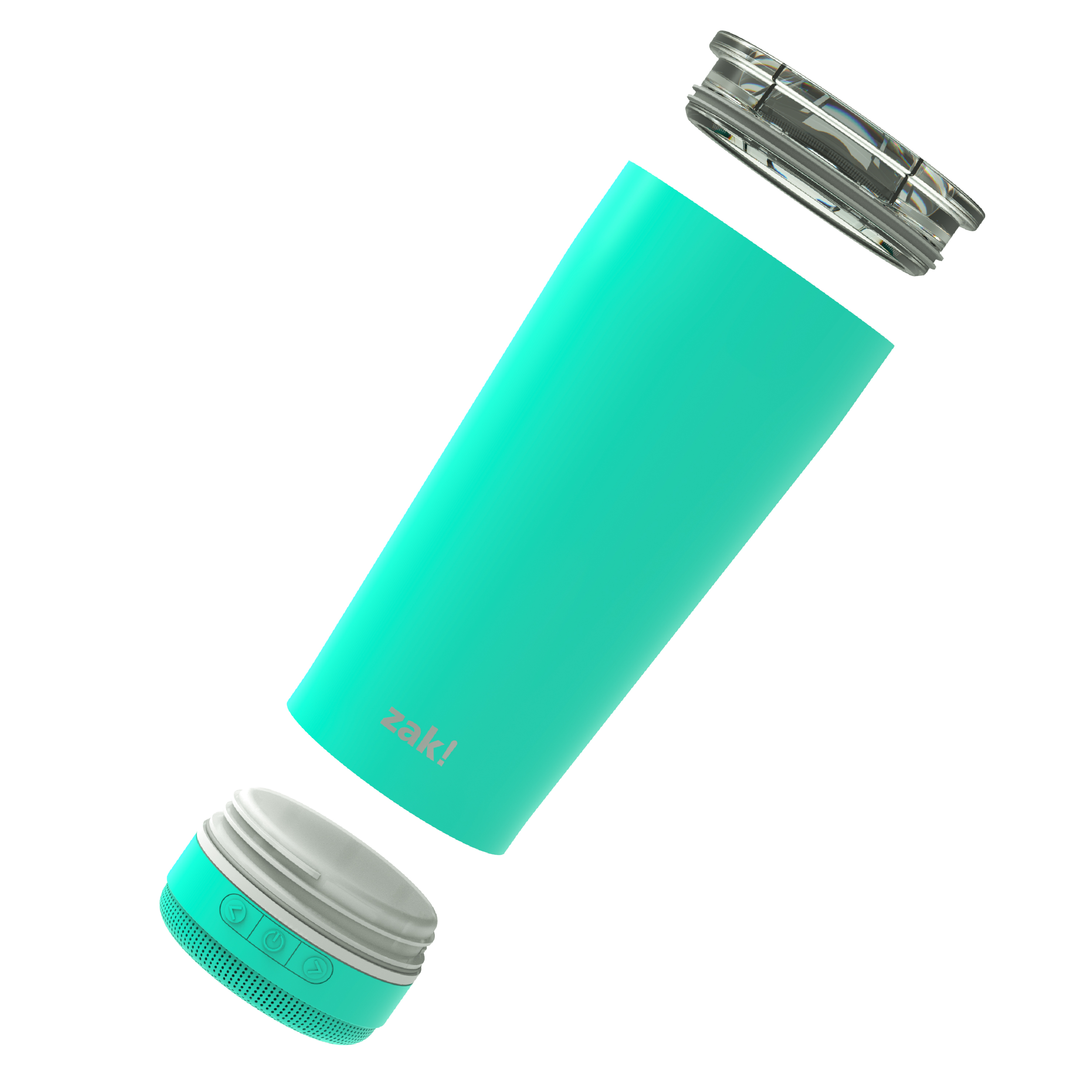 Zak Play 18 ounce Stainless Steel Tumbler with Bluetooth Speaker, Teal slideshow image 2