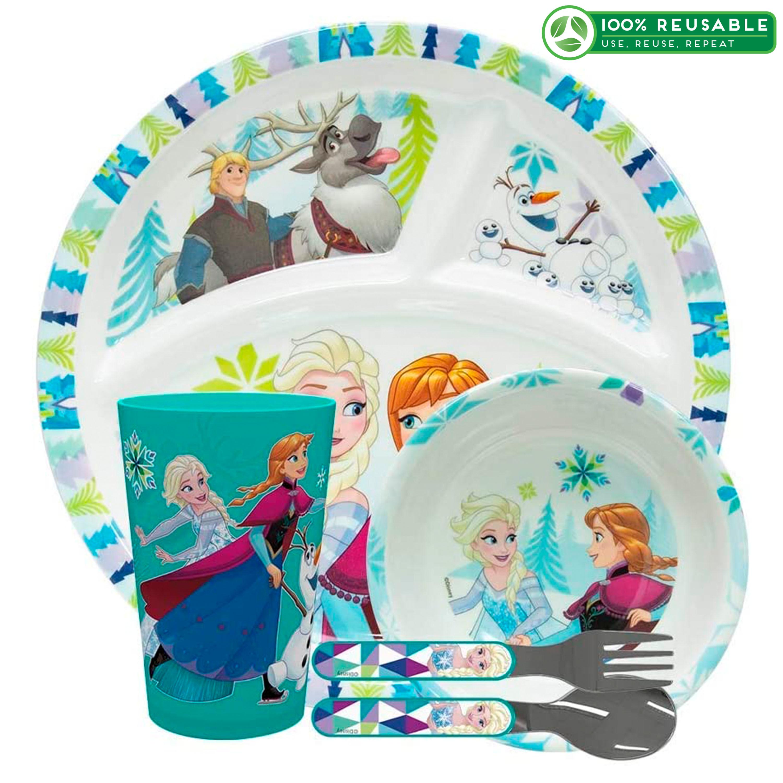 Disney Frozen Dinnerware Set, Anna and Elsa, 5-piece set slideshow image 1