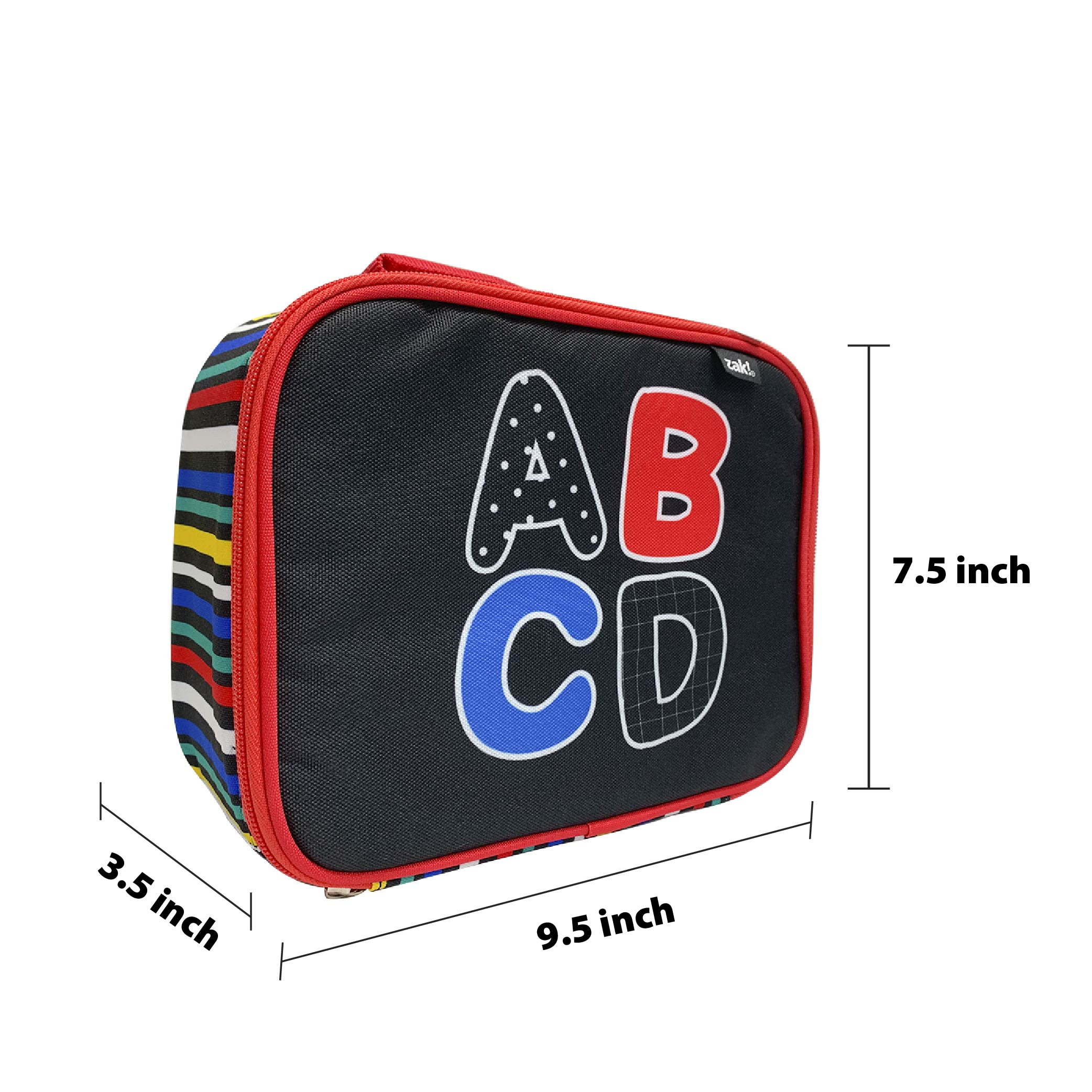 Grid Lock Insulated Reusable Lunch Bag, ABC slideshow image 4