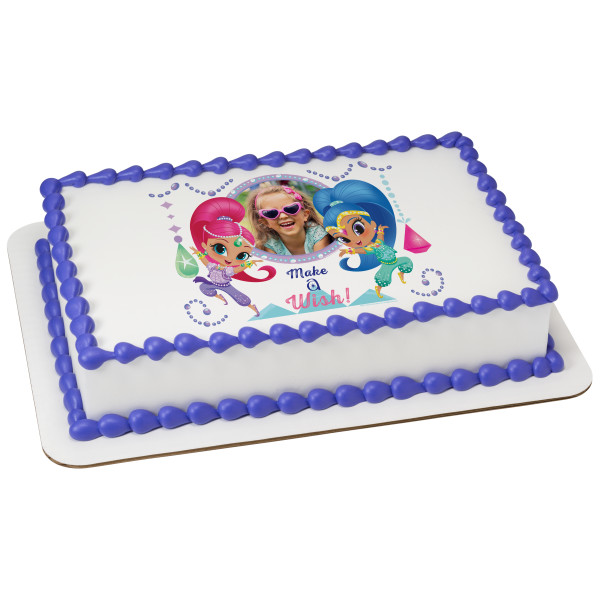 Shimmer and Shine™ Gems & Jewels PhotoCake® Edible Image® Frame