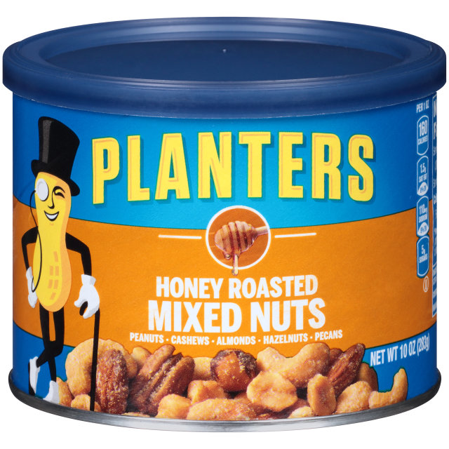 PLANTERS Honey Roasted Mixed Nuts 10 oz Can image