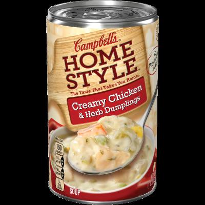 Creamy Chicken & Herb Dumplings Soup