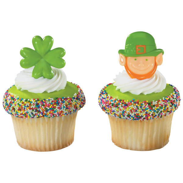 Leprechaun and Shamrock Cupcake Rings
