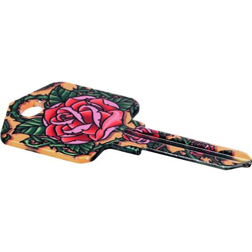Achilles Ink Roses Key Blank Kwikset 66/97 KW1/10