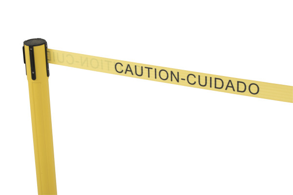 Sentry Stanchion - Yellow with 'Caution' belt 3