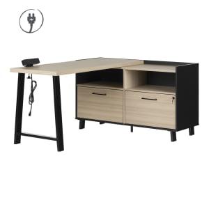 Kozack - L-Shaped Desk with Power Bar