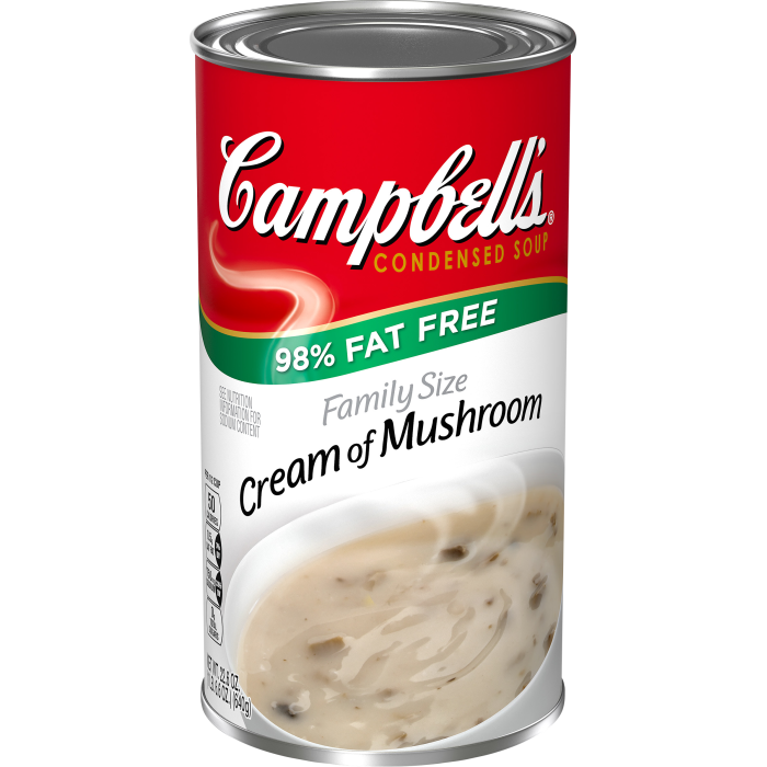 Family Size 98% Fat Free Cream Of Mushroom Soup