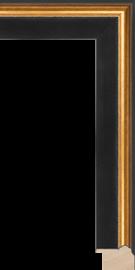 Hudson II Black and Gold 1 3/4