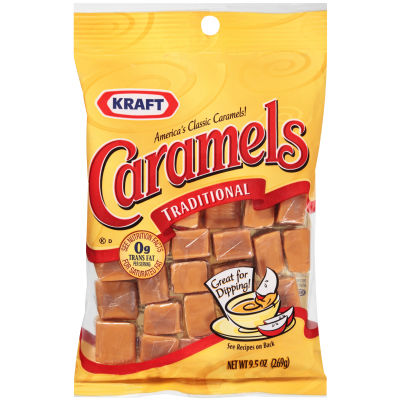 Kraft Traditional Vanilla Caramels 9.5 oz Wrapper