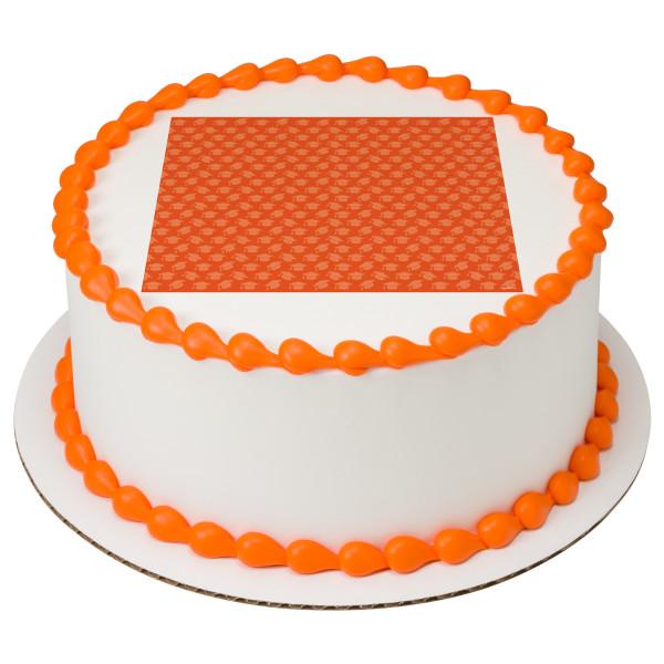 Orange Grad Hats PhotoCake® Edible Image®