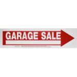 "Arrow Garage Sale Sign (6"" x 24"")"