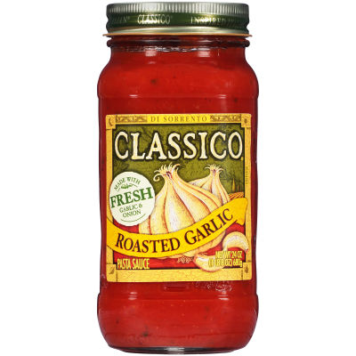 Classico Roasted Garlic Pasta Sauce 24 oz Jar