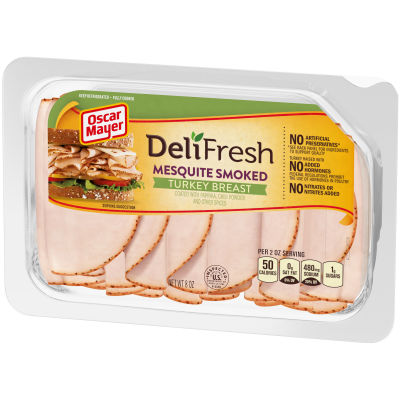 Oscar Mayer Deli Fresh Mesquite Smoked Turkey Breast 8 oz Tray