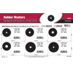 "Extra Thick 1/8"" Rubber Washers Assortment (3/16"" thru 3/8"" I.D. & 1-1/4"" thru 1-1/2"" O.D.)"