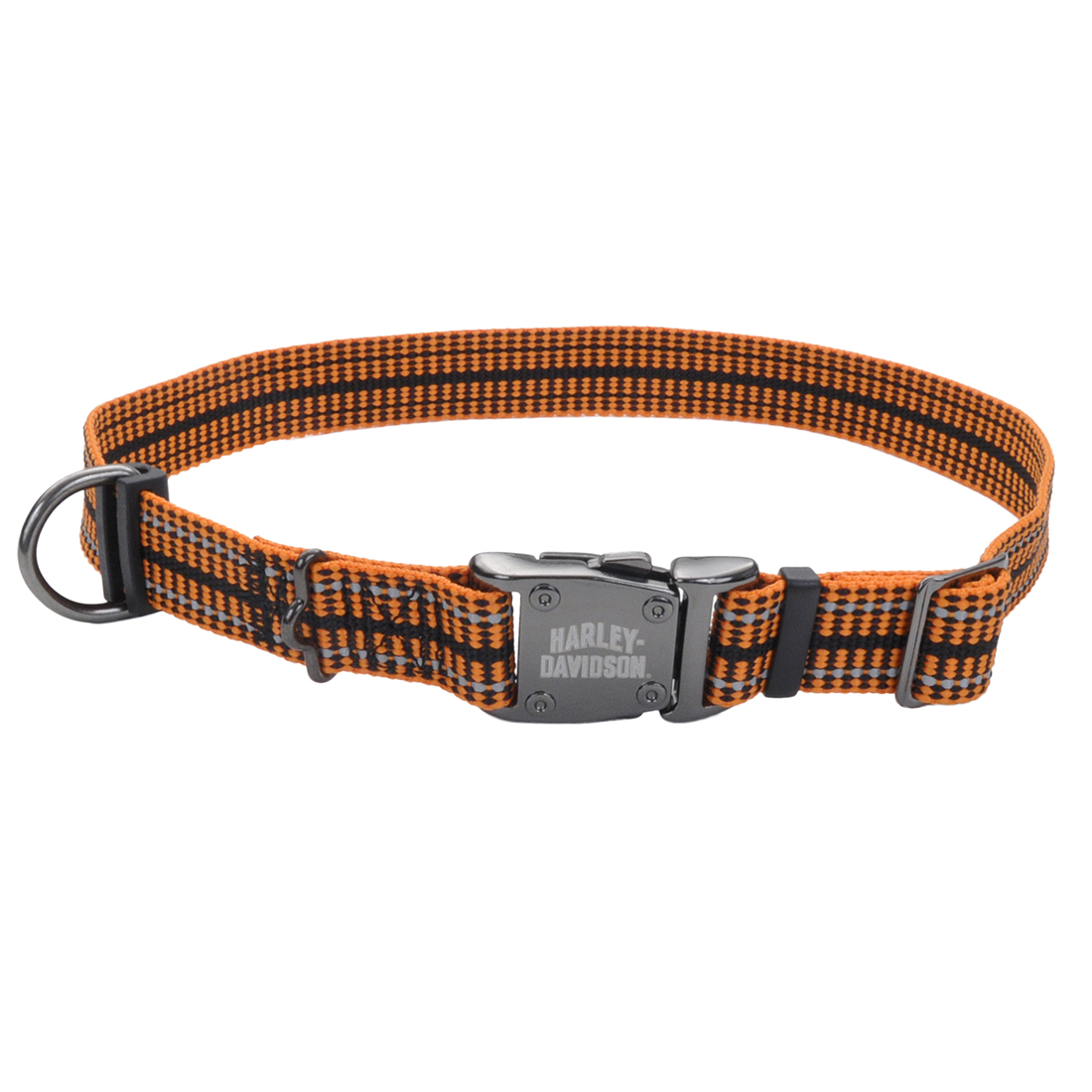 Harley-Davidson Reflective Rugged Adjustable Dog Collar