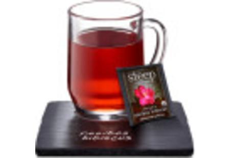 Cup of steep by bigelow organic rooibos hibiscus herbal tea