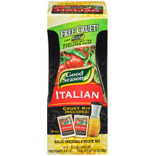 Good Seasons Italian with Cruet Salad Dressing & Recipe Mix, 2 - 0.7 oz Packets