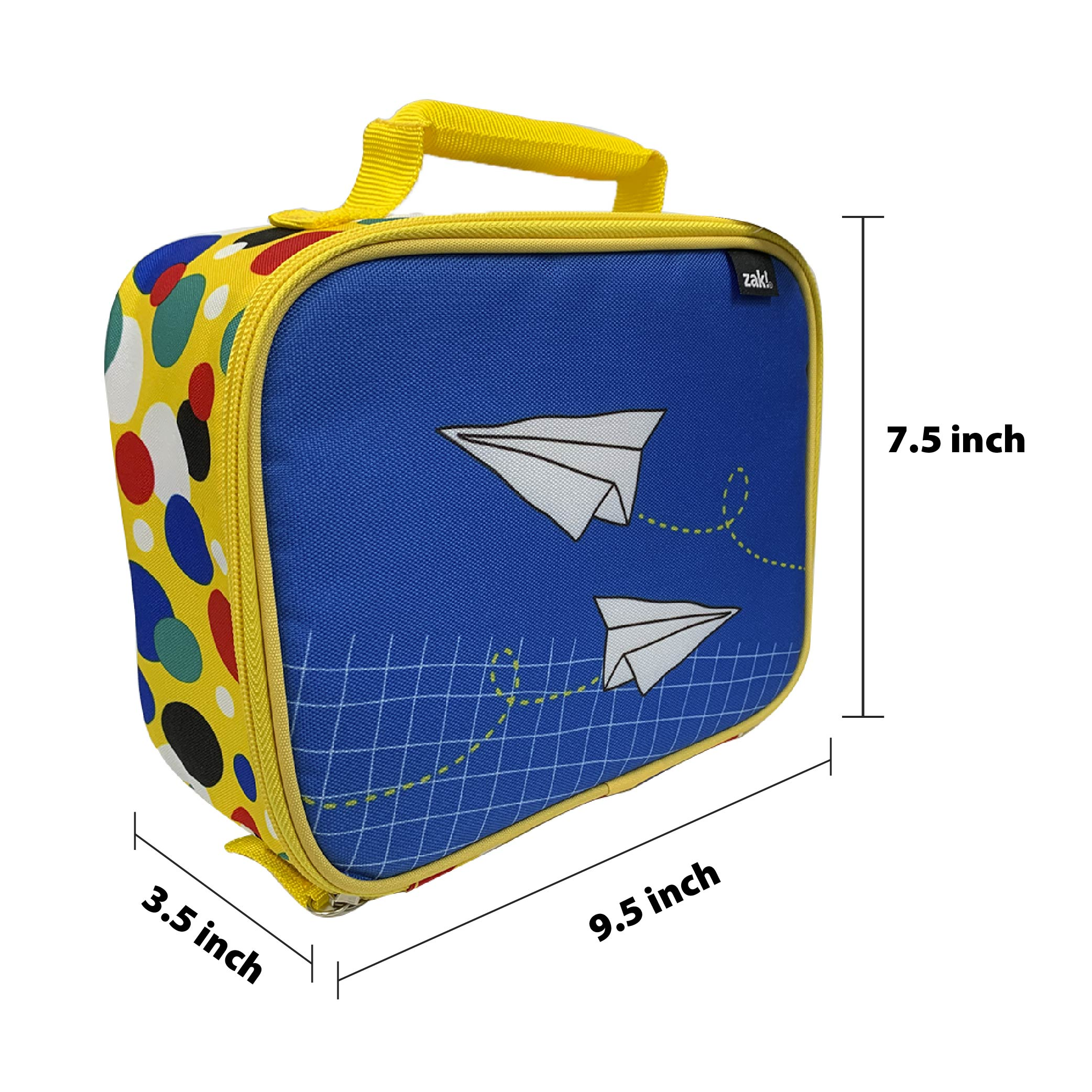Grid Lock Insulated Reusable Lunch Bag, Planes slideshow image 4