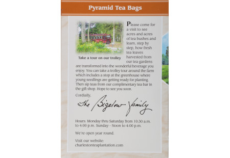 Front of Charleston Tea Cinnamon Spice Tea box