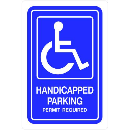 Aluminum Handicapped Parking Sign (12