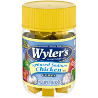Wyler's Reduced Sodium Chicken Flavor Instant Bouillon Cubes 2 oz Jar image