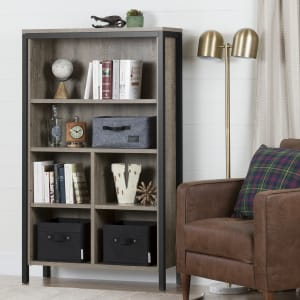 Munich - 6-shelf Bookcase with Cubes