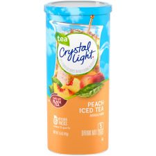 Crystal Light Peach Iced Tea Drink Mix 6 count Canister