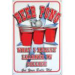 Aluminum Beer Pong Sign 12x18in