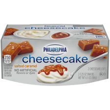 Philadelphia Salted Caramel Cheesecake Refrigerated Snacks 2 count Sleeve