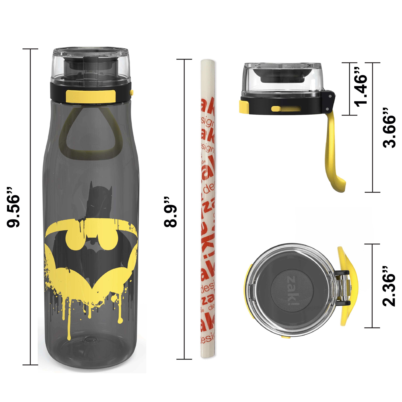 DC Comics 25 ounce Water Bottle, Batman, 3-piece set slideshow image 8