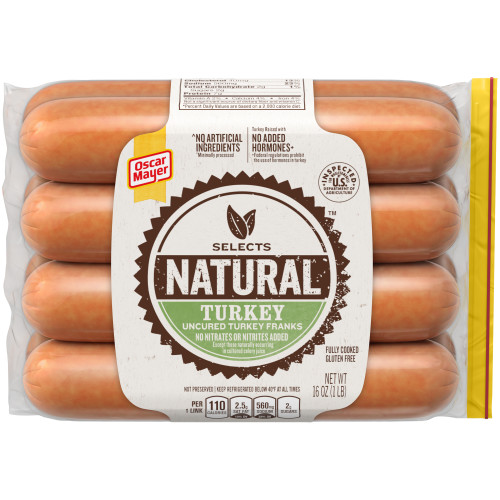 Oscar Mayer Selects Turkey Franks 16 oz
