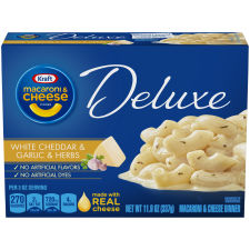 Kraft Deluxe White Cheddar & Garlic & Herb Macaroni & Cheese Dinner, 11.9 oz Box