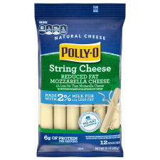Polly-O Reduced Fat Mozzarella String Cheese with 2% Milk 12 counts Bag