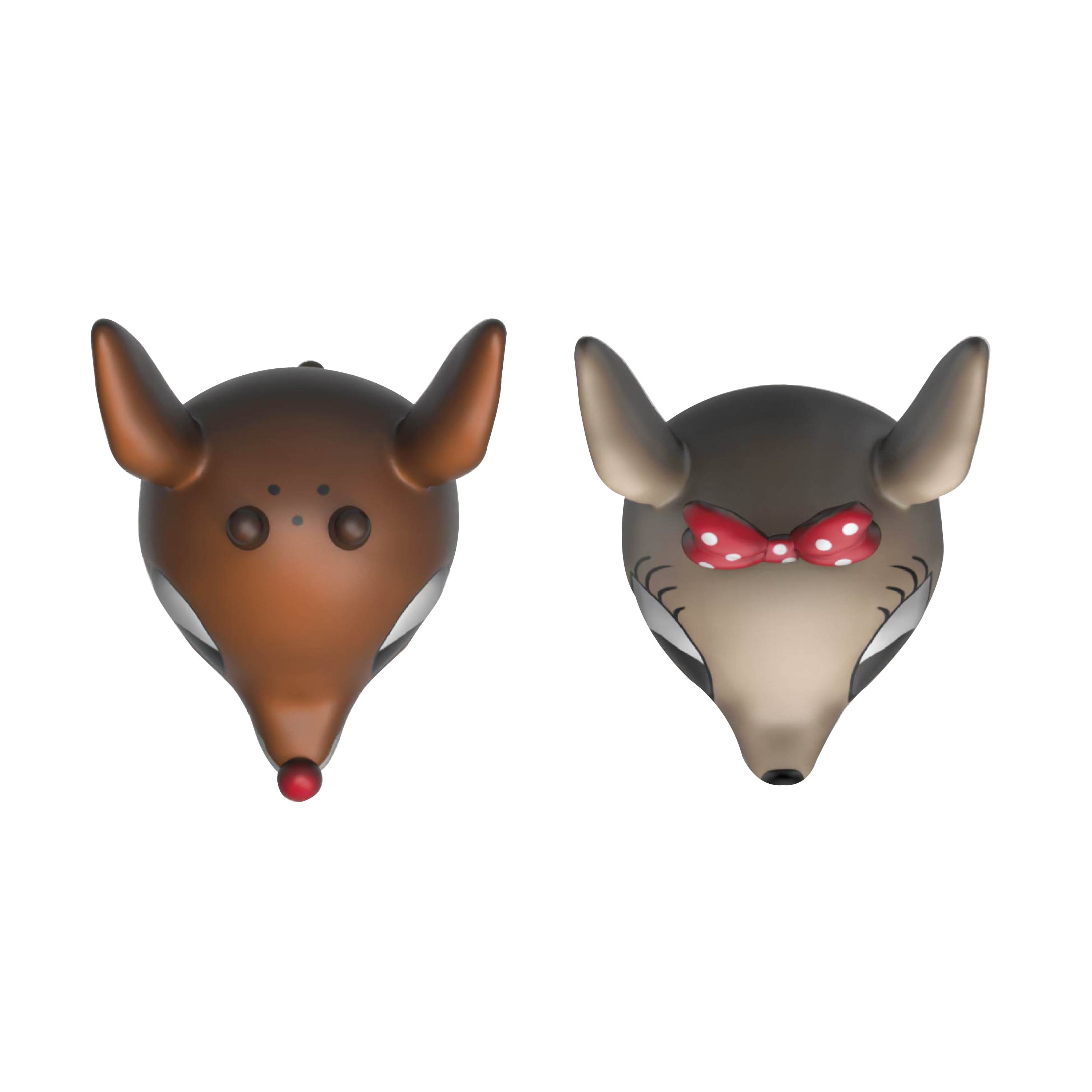 Rudolph the Red-Nosed Reindeer Salt and Pepper Shaker Set, Rudolph & Clarice, 2-piece set slideshow image 6