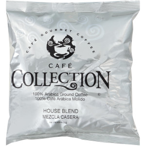 CAFÉ COLLECTIONS House Blend Roast & Ground Coffee, 10 oz. Bag (Pack of 24) image