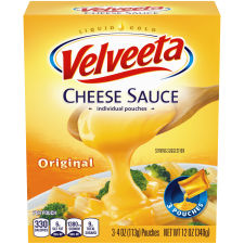 Velveeta Original Cheese Sauce, 3 - 4 oz Pouches