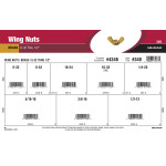 "Brass Wing Nuts Assortment (#6-32 thru 1/2"")"