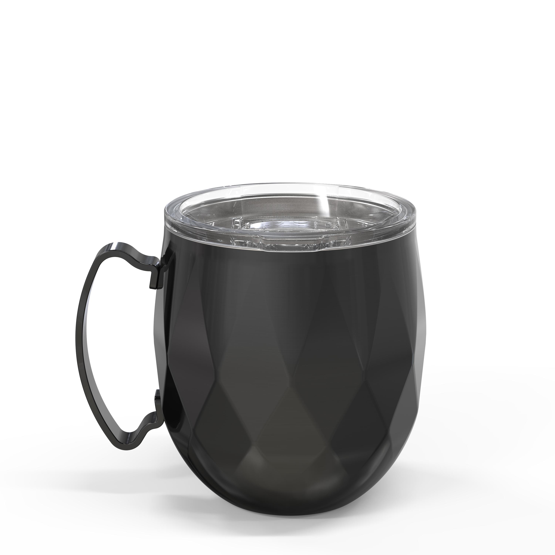 Fractal 19 ounce Vacuum Insulated Stainless Steel Mule Mug, Black slideshow image 2