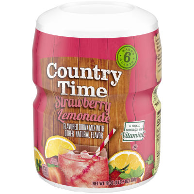 Country Time Strawberry Lemonade Drink Mix, 18 oz Jar