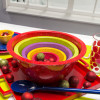 Confetti Mixing Bowl Set, Red, Kiwi & Orchid, 4-piece set slideshow image 3