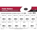 "Neoprene Fender Washers Assortment (3/16"" thru 1/2"" Inner Dia. + 1/16"" Thickness)"