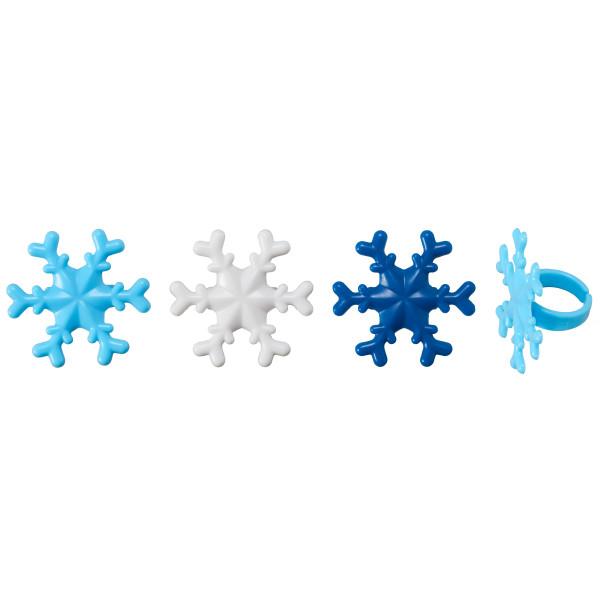 Blue Snowflake Cupcake Rings Cupcake Rings