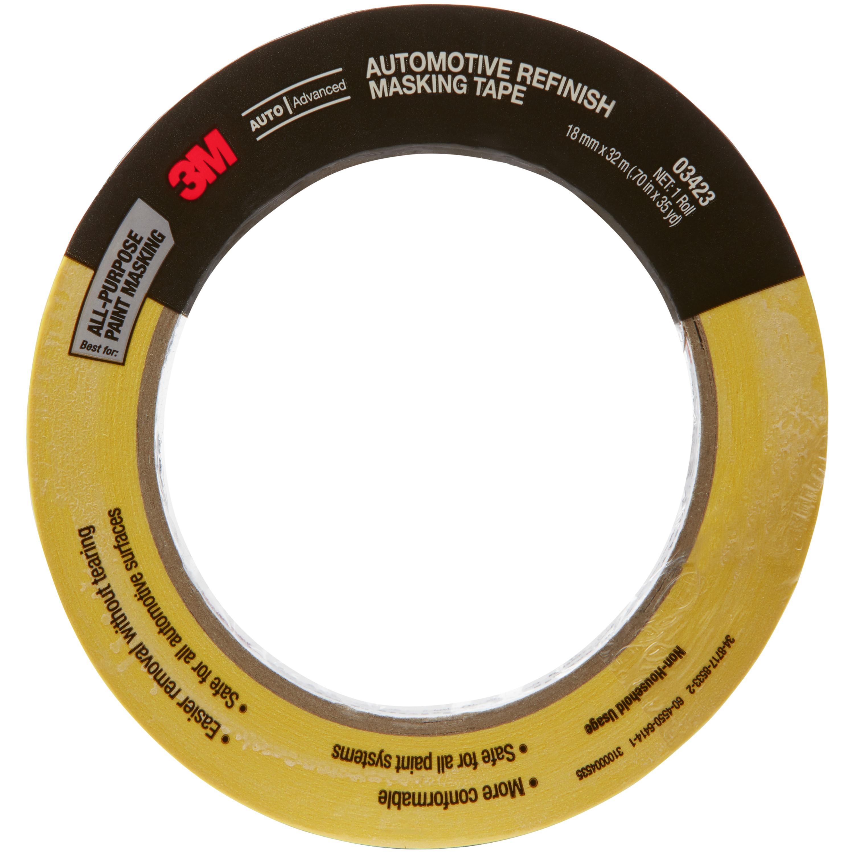 3M™ Automotive Refinish Masking Tape, 03423, 18 mm x 32 m, 24 per case