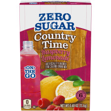 Country Time On-The-Go Sugar-Free Raspberry Lemonade Powdered Soft Drink 6 - 0.48 oz Packets