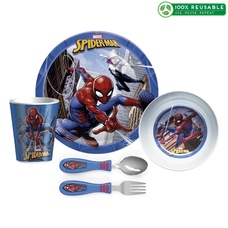 Marvel Comics Dinnerware Set, Spider-Man, 5-piece set slideshow image 1