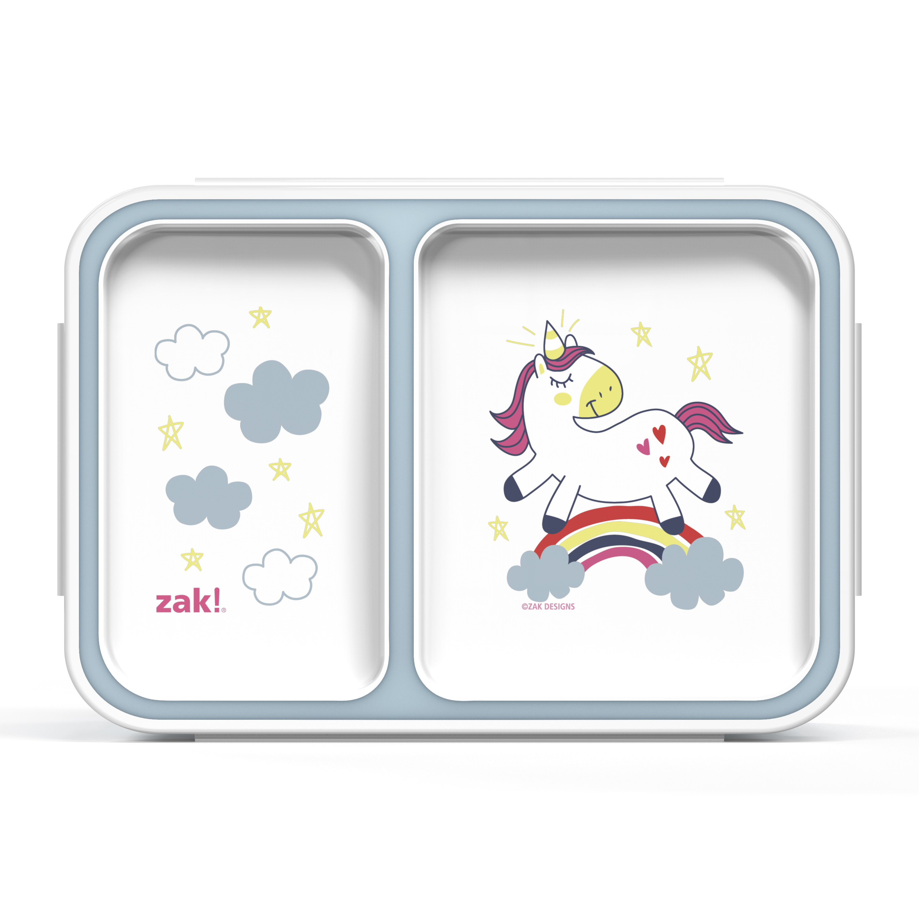 Happy Things Dual-compartment Reusable Bento Box, Unicorns slideshow image 1