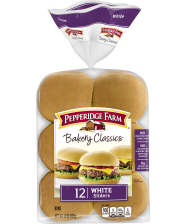 (15 ounces) Pepperidge Farm® White Slider Buns (12 buns), split and toasted